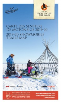 Eeyou Istchee Baie-James Snowmobile Trails Map (Bilingual)